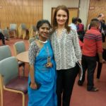 Ms. Oindrila Bose, Katthak dance performer and Ms. Simona Ivanda, Maitreya Publishing Foundation President
