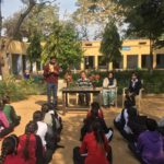 Government Senior Secondary School, Mandola, Rewari, Haryana. Maneesh Singh, TagorePrize Project Manager, Mr. Sunil, Principal, Kusum Lata, Librarian and Priya, Student Literary Club President-20190212