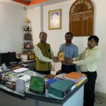 Doon Public School, Begusarai, Bihar. Mr. G.K Singh, Principal, Mr. Rakesh Kumar, TagorePrize Project Manager and Mr. Amit Tiwari, Librarian 2019.02.23 (2)