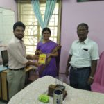 Secondary School Kendriya Vidyalaya, Anna Nagar, Chennai, Tamil Nadu. Mr. Deepak, TagorePrize Consultant, Ms. Jayapriya, Librarian & Mr. S. Ballabhan, Principal – March 13th, 2019.