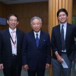 Ambassador of Taiwan to India, Chung-Kwang Tien with C.C. Chang, Assistant Representative (left) and Aaron C.W. Hsu, Assistant Representative (right)