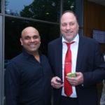 Pawan Pahwa, TagorePrize PR Director with Peter Bundalo, TagorePrize Founder