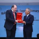 Peter Bundalo, TagorePrize Founder with Ambassador of Taiwan to India, Chung-Kwang Tien
