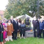 Celebration of Mahatma Gandhi's 150th birthday at Gandhi Plæne in Copenhagen, Denmark – October 2nd, 2019.