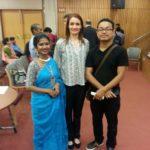 Ms. Oindrila Bose, Katthak dance performer, Ms. Simona Ivanda, Maitreya Publishing Foundation President  and Mr. Sinam Basu, Manipuri dance performer