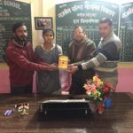 Government Senior School, Kanina, Mahendragarh. Maneesh Singh, TagorePrize project manager, Lal Singh, Principal, Sunil Yadav, Librarian, Ms. Preeti, Student Literary Club – February 14th, 2019.