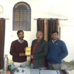 Government Senior Secondary School in Mahendragarh,Haryana. Maneesh Singh, TagorePrize Project Manager, Abheyram Yadav, Principal and Mr. Nitin, librarian – February 8th, 2019.
