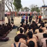 Government Senior Secondary School, Budhpur, Rewari, Haryana. Mr. Maneesh Singh, TagorePrize Project Manager, Ms. Meenakshi, Library Club, Ms. Anju, Librarian, Ms. Santosh Yadav, Principal, Ms. Anita, English Lecturer – February 21st, 2019.