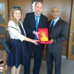 H.E. Sandeep Kumar, Ambassador of India to Croatia with Mr. Peter Bundalo,TagorePrize Founder and Ms. Vjerna Nevistic, TagorePrize Board of Directors – April 2nd, 2018.