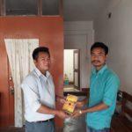 Mr Sarlomet Tisso, Vice Principal, Singkiri Junior College Diphu, Karbi Amglong, Assam and Mr. Longbir Terang, TagorePrize Volunteer – March 23rd, 2019.