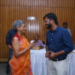 Kala Ramesh, a poetess and Maneesh Singh, TagorePrize Project Manager