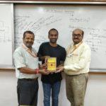 Maoji Bhai, Dir. of Viveka Research& Development Inst, Katchchh Mandavi, Gujarat, Rakesh Kumar, TagorePrize Project Manager and Kishore Bhadra, Dir. of Vivekanand Research& Development Inst, Saurashtra – April 9th, 2019.