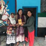 Rajkiya Prathmik Vidalay – Talla Niglat, Kainchi Dham. Ms. Qudsia Sumbul, Principal and Head Teacher, Dr. Yvette Rosser, TagorePrize Advisor aka Ram Rani and Nisha Tiwari, Teacher – April 5th, 2019.
