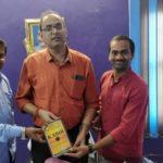 Piramal Foundation, Begusarai, Bihar. From left Robin Raj Hans, Senior Program Leader, Sanjay Kumar Choudhary, District Education Officer and Rakesh Kumar, TagorePrize Project Manager – May 14th, 2019