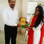 Priyanka Kumari, TagorePrize volunteer at St. Xavier's College, Ranchi, Jharkhand with Sanjay Ghosh, Head of Department – September 17th, 2019.