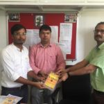 R. P. S Narnaul, Haryana. (R) J.P Yadav, Dean of School, Sunil Yadav, Library Incharge andManeesh Singh, TagorePrize Project Manager – October 1st, 2019.